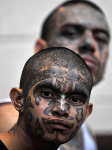 Gang members in Guatemala