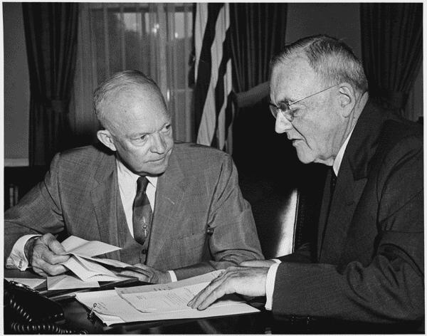 John Dulles and President Eisenhower