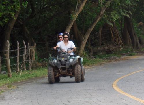 Quad-biking on Ometepe Island, Nicaragua