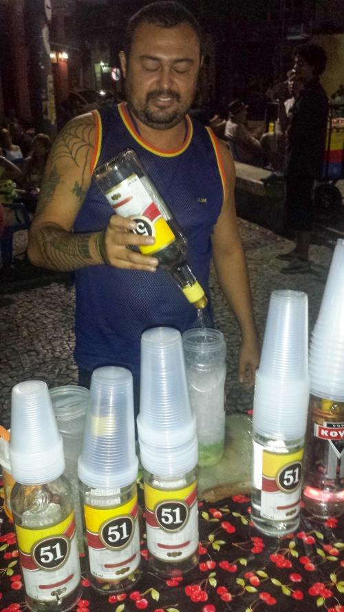 Caipirinha stall in Lapa, Rio de Janeiro
