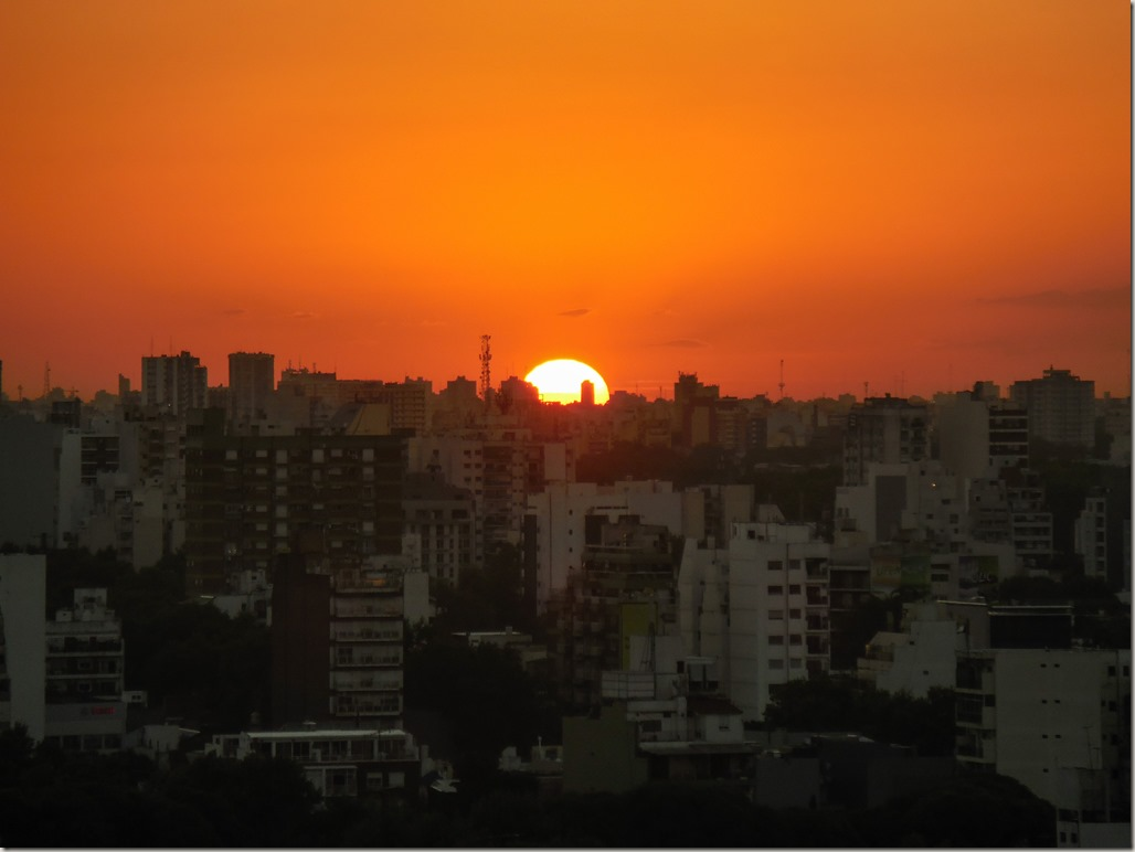 Buenos Aires sunset