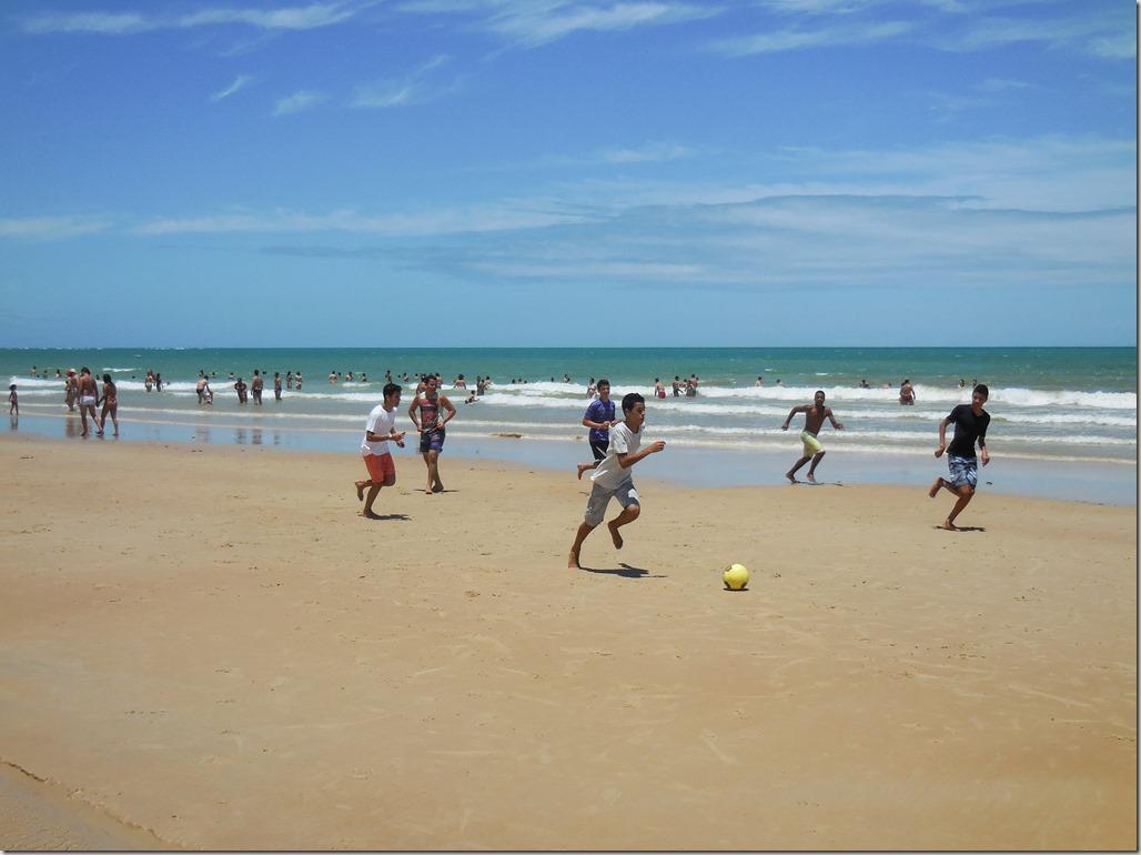 Football on the beach in Brazil