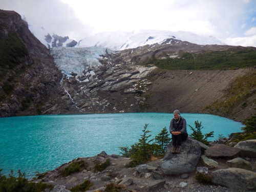 Franki at the Huemul Glacier