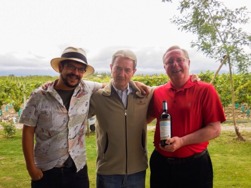 Rob and winery owner