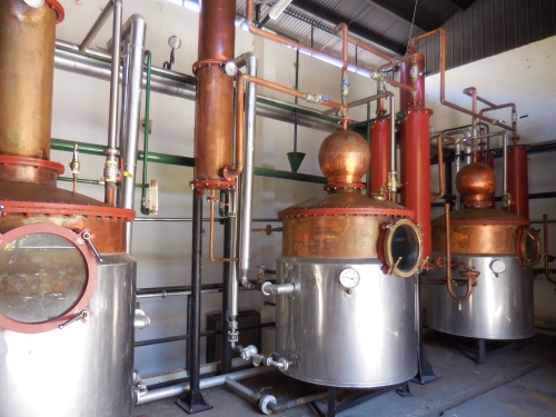 Pisco distillation vats
